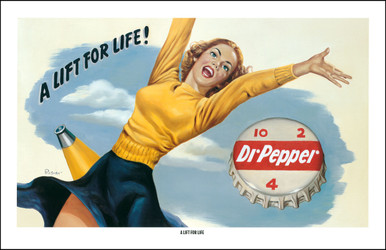 Dr Pepper Vintage Advertising - A Lift For Life