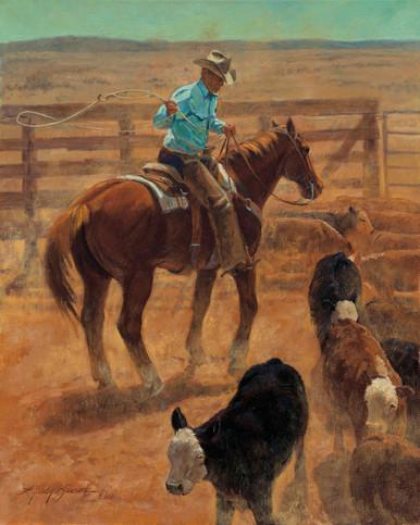 Western Art Canvas Art Prints   Still A Hand by Lyndy Benson