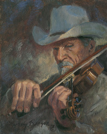 Lyndy Benson The Fiddler fine art print on canvas.