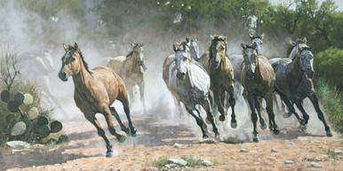 Los Caballos by Ragan Gennusa Fine Art Canvas Giclee Print