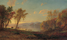 Jasper Cropsey Greenwood Lake Museum Quality Fine Art Canvas Reproduction Art Print