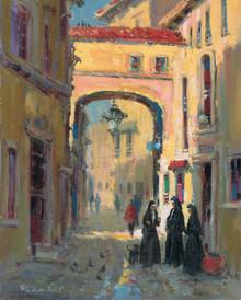 H. C. Zachry's Rome Nuns Fine Art Canvas Giclee Print