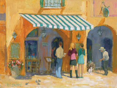 H. C. Zachry's The Wine Bar Fine Art Canvas Giclee Print