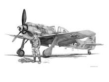 Walter Nownoty Focke-Wulf 190 Fine Art Paper Giclee