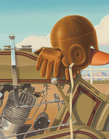 """Brian Loker's  """"Trackside"""" Fine Art Limited Edition Canvas Giclee Print"""
