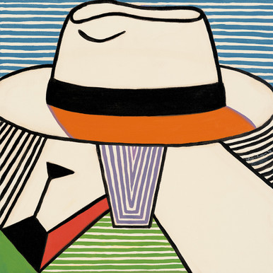 Goats Rule from the Panama Hats Series by Lynne Bernbaum