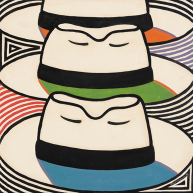 Triple Threat from the Panama Hats Series by Lynne Bernbaum