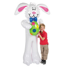 "76"" Inflatable Bunny Rabbit w/ Easter Egg"