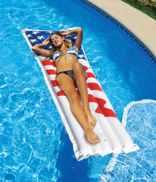 "75""x29"" American Flag Air Mattress"