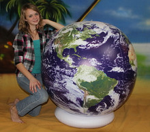 "54"" Inflatable ASTRONAUTS VIEW Earth Globe w/Clouds"