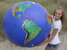 "48"" Inflatable Earth Globe DARK BLUE"