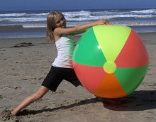 "48"" 4 Color `Neon` Beach Ball"