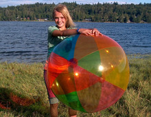"42"" 6 Color Transparent Beach Ball"