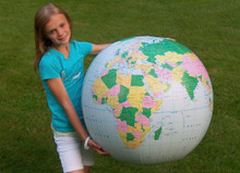 "36"" Inflatable Earth Globe  ""LIGHT BLUE"" JT"