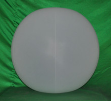 "36"" 6 Panel Opaque White GLOW STICK or SPRINKLER Beach Ball w/ Clear Frost Tube"