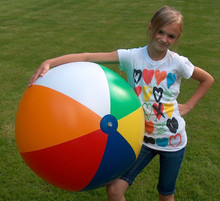 "36"" 6 Color Heavy Duty Beach Ball - Matte"