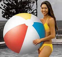 "36"" 4 Color Classic Style Beach Ball - Matte"