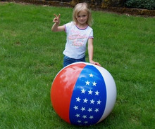 "36"" 3 Color Stars & Stripes Beach Ball"