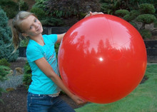 "36"" 1 Color Red Beach Ball"