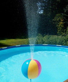"""30"""" Glossy 6 Color GLOW STICK or SPRINKLER Beach Ball w/ Clear Frost Tube"""