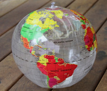 "16"" Inflatable Earth Globe CLEAR Vinyl - R"