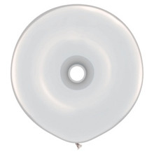 "16"" Crystal Clear DONUT Balloon - Latex"