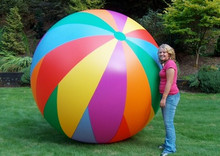 "144"" 24 Panel 6 Color `Diagonal Split` Beach Ball - CUSTOM"