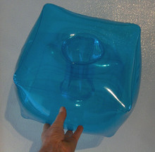 "12"" Transparent AQUA Inflatable Retro LAMP SHADE"