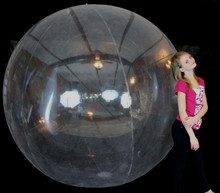 "108"" 6 Panel CRYSTAL CLEAR Beach Ball"