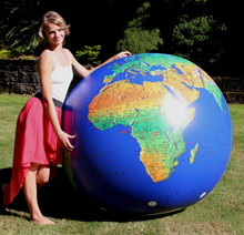 "72"" Inflatable Dark Blue TOPOGRAPHICAL Earth Globe"