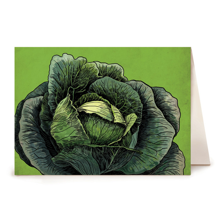 Cabbage Greeting Card - Watercolor Series