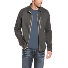 Men's Ariat Sweater, Caldwell, Full Zip, Heather Charcoal