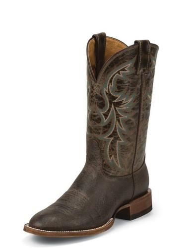 Men's Nocona Boot, Brown Shoulder Print, Brown Shaft, Round Toe