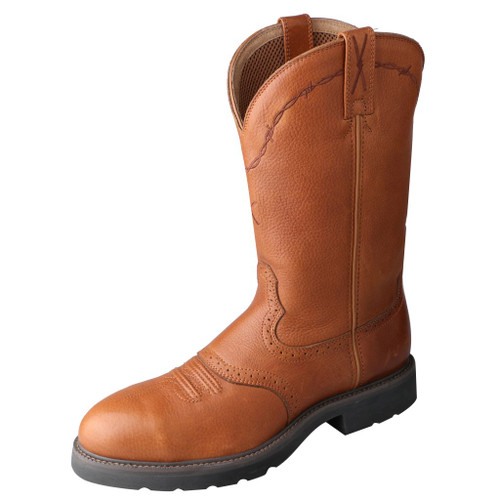 Men's Twisted X Steel Toe Boot, Brown, Round Toe