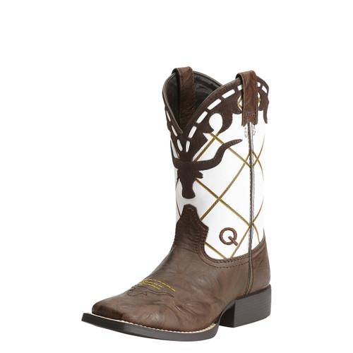 Boys Ariat Boot, Longhorn/Brown