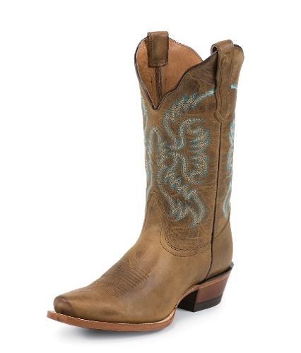 """Women's Nocona Boot, Old West Tan, 11"""", Snip Toe"""