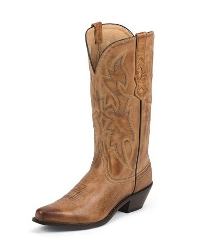 "Women's Nocona Boot, Tan Snip Toe, Riding Heel, 12"""
