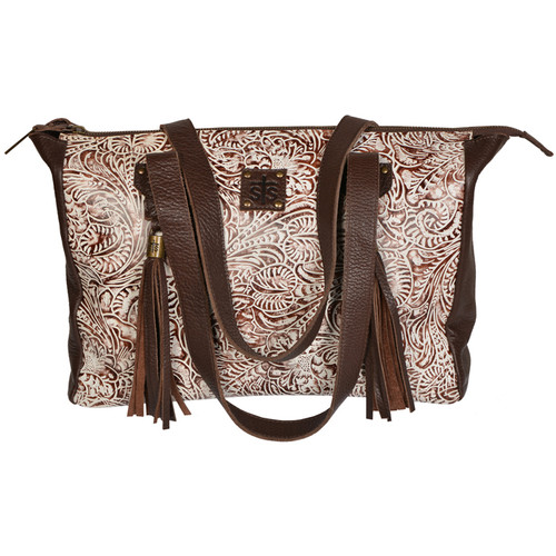 Women's STS Purse, Cream/Brown, Tool & Fringe, The Darling II