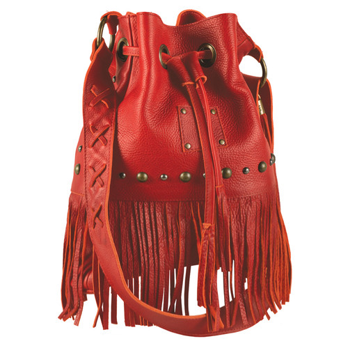 "Women's STS Purse, ""Free Spirit"" Red with Fringe"