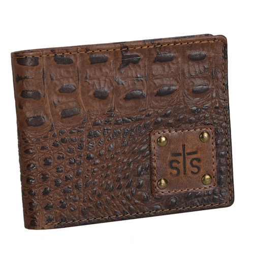 Men's STS Wallet, Distressed Brown Leather/Bifold, Foreman's
