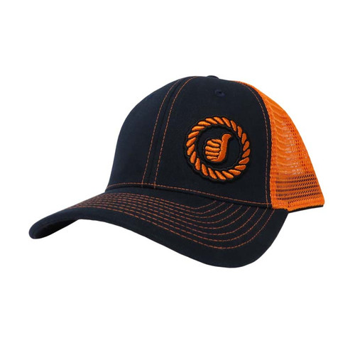 Men's Dally Up Cap, Charcoal Gray and Pale Orange