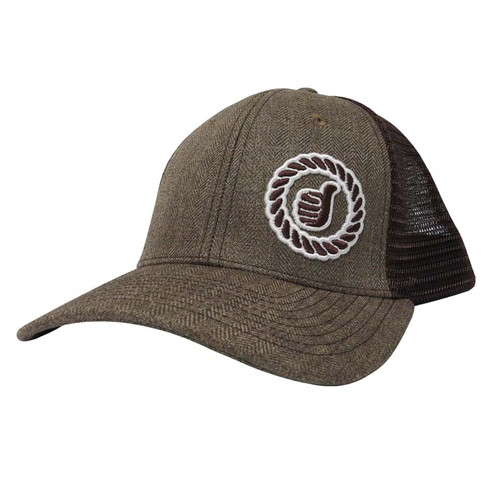 Men's Dally Up Cap, Herring Bone and Brown