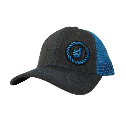 Men's Dally Up Cap, Gray/Neon Blue