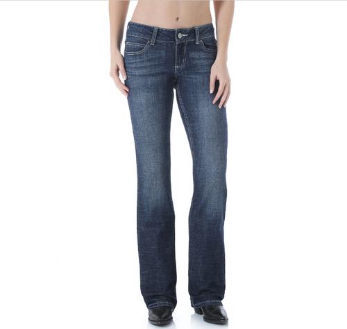 Women's Wrangler Jeans, Boot Cut, W Stitch Pocket, Medium Wash