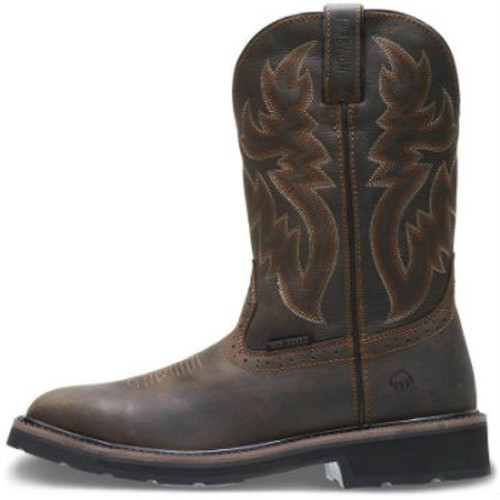 Men's Wolverine Boots, Steel Toe, Brown Square Toe, Rubber Sole