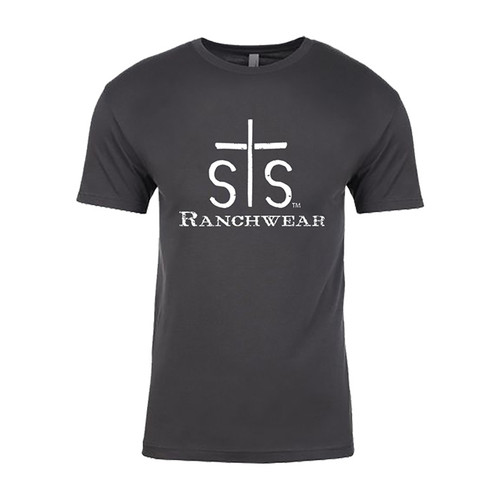 Men's STS Tee, Charcoal Gray with Logo
