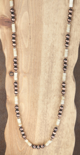West & Co. Necklace, Copper and Ivory Beads