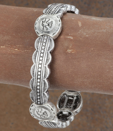 West & Co.Bracelet, Silver with Thunderbird Charm