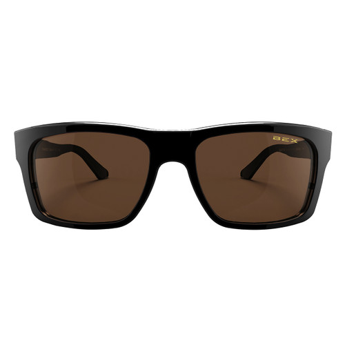 Bex Sunglasses, Black Frame, Brown Lens, Braddish