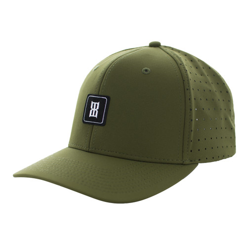 Men's Bex Cap, Benton, Olive Green, Holes